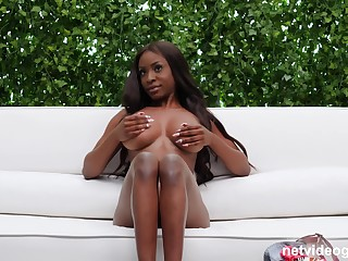 Nothing is better for Katia than a black dick in her shaved pussy