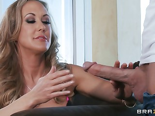 Well-hung dude gives mature blonde a doggy anal bonk