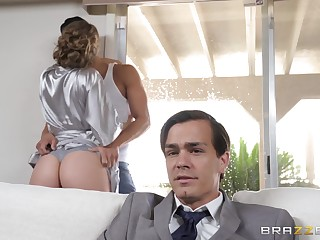 Premier wife Lena Paul in hardcore cock riding action