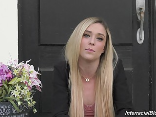 Sizzling light haired lady Kali Roses and her weasel words hardening xxx interview